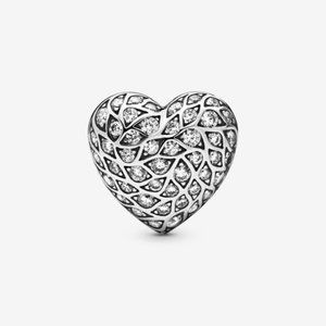 PANDORA Sparkling Heart Single Stud Earring